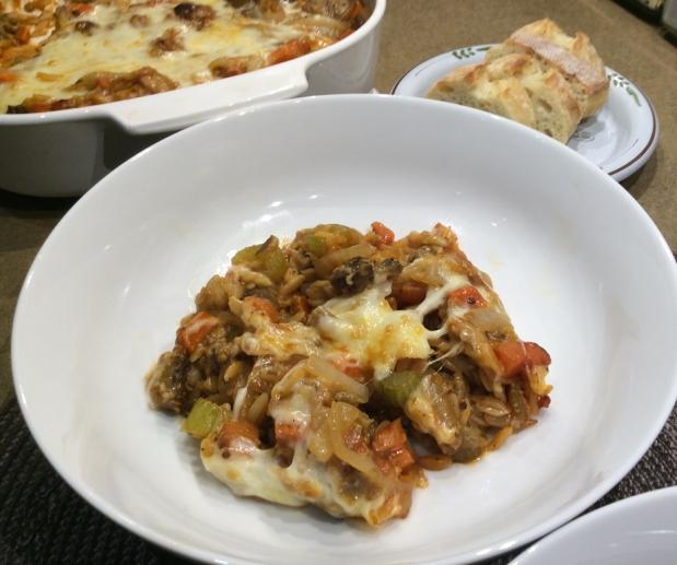 Baked Orzo & EggplantCasserole