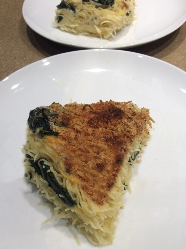 Pasta Pie with Greens