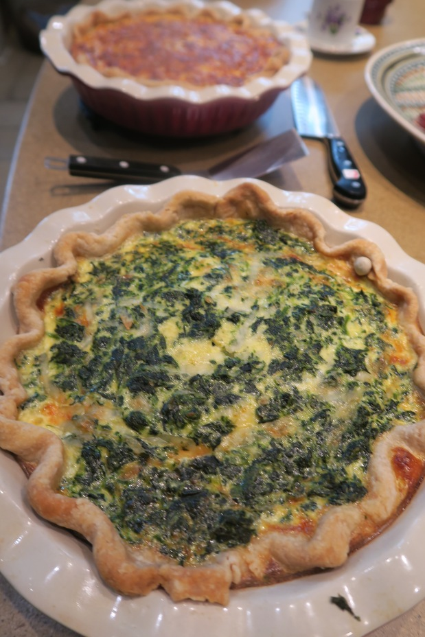 Caramelized Onion and SpinachQuiche