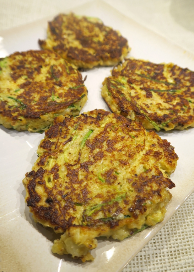 Roasted Cauliflower and Zucchini Fritters