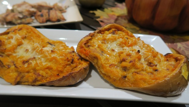 Three Cheese Stuffed Butternut Squash