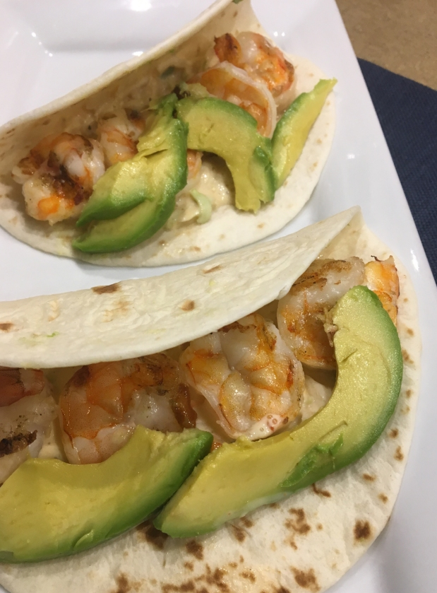 Grilled Shrimp Tacos with Sriracha Slaw