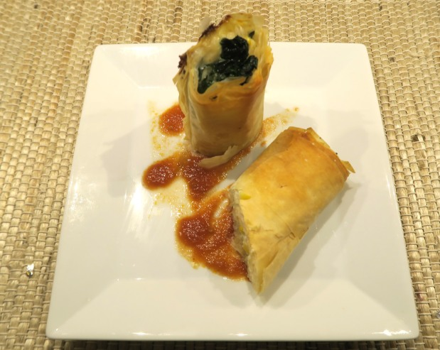 Spinach and Corn Strudel