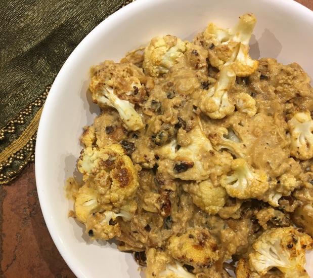 Cauliflower Korma with Toasted Almonds & Blackened Raisins