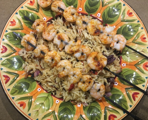 Greek Grilled Shrimp Orzo