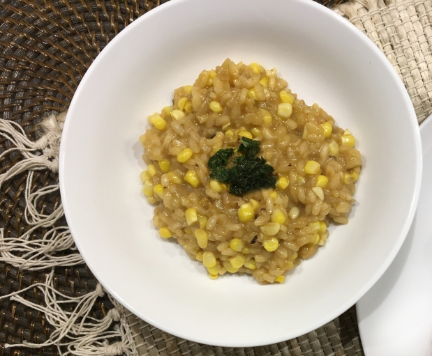 Risotto with Fresh Corn and BasilOil