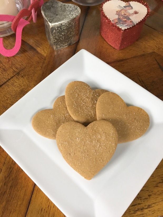 Valentine Ginger Heart Cookies