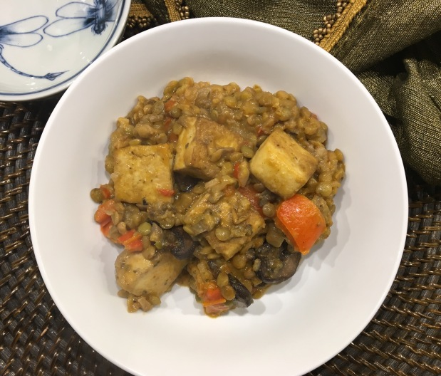 Lentil and Tofu Red Curry