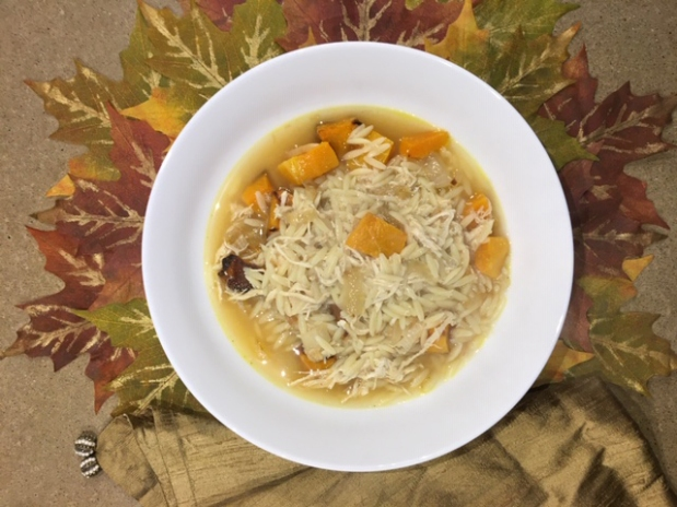 Orzo, Butternut Squash & Chicken Soup