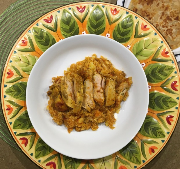 "Chicken Curry with Cauliflower ""Rice"""