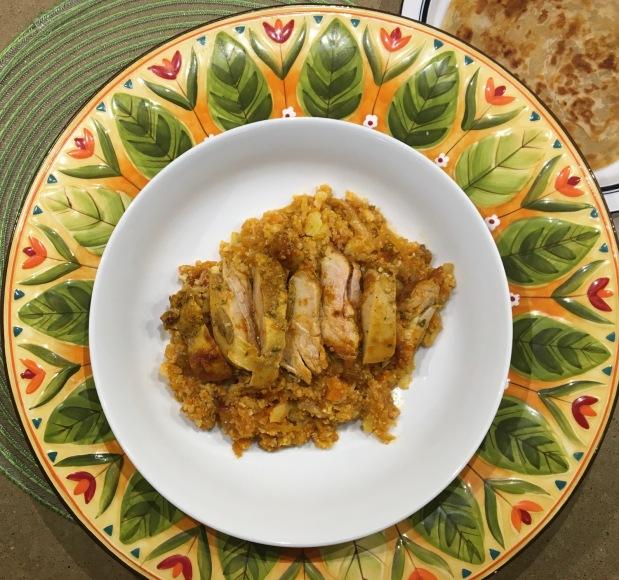 """Chicken Curry with Cauliflower """"Rice"""""""