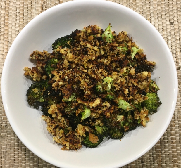 Roasted Broccoli Florets with Toasted Breadcrumb Gremolata